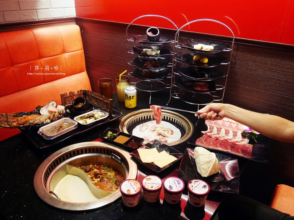 台北火鍋燒烤吃到飽小蒙牛新莊店聚餐餐廳推薦啤酒喝到飽 (4)