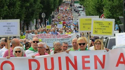 Foto Archivo: Manifestación Movimiento Pensionistas Txingudi 19-08-2019