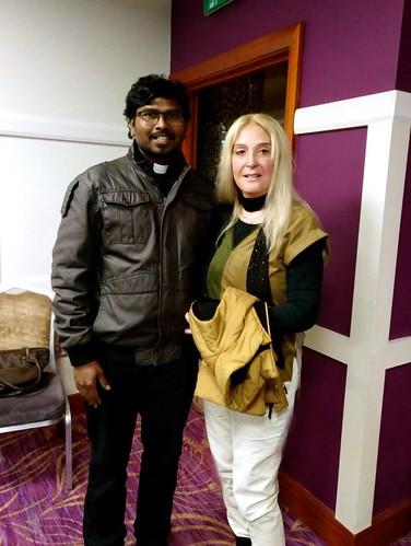 Vassula with Fr. Suresh