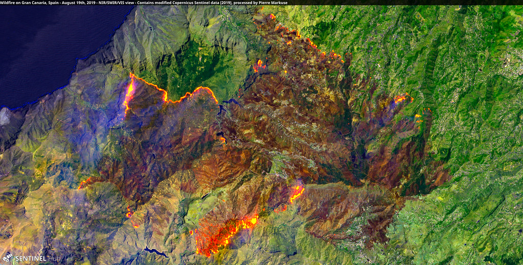 Wildfire on Gran Canaria, Spain - August 19th, 2019