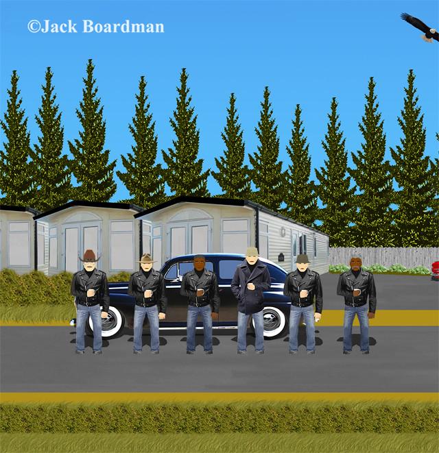 Keller and recruits at the Trailer Park ©JBoardman