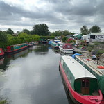 Boats at the Ashton basin of Lancaster Canal at Preston
