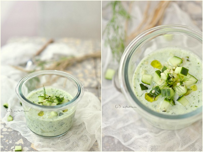 herb cucumber soup