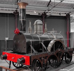 Monochrome Red Steam Engine