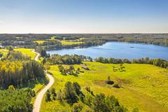 Lake | Papiliakalnė |  Utena county aerial