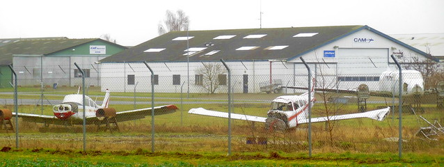 Roskilde Airport training aids compound