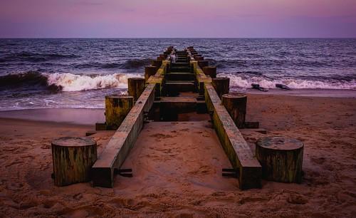 beach summer sunset landscape seascape ocean waves delaware rehoboth vacation travel 2019 zeiss zeiss35mm biogont235
