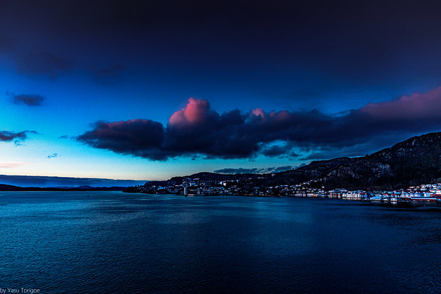 Sunset over Bergen, Norway- 3a