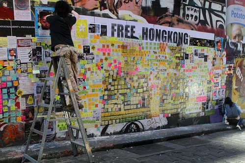 Photographing the Lennon Wall in Melbourne (22 July 2019)