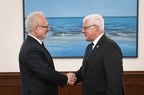 Valsts prezidenta Egila Levita tikšanās ar Latvijas Olimpiskās komitejas vadību