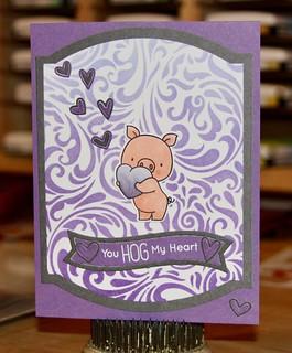 MFT Hog Heaven, Elegant Rectangles, Lawn Fawn Fancy Wavy banners, SSS Mini Heart Outlines