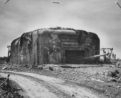 San Marcouf, Normandy German Coastal battery, also known as the Crisbecq, captured by units of the 39th Infantry Regiment of the 9th American Infantry Division in Normand June 1944.