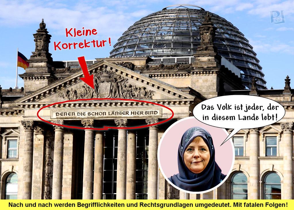 Reichstagsinschrift: Volk?
