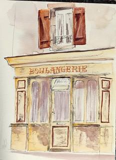 La vieille boulangerie de la rue des frères Kermorvant à la Trinité sur Mer