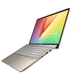 ASUS VivoBook S15 with its four-sided Nano-Edge display.