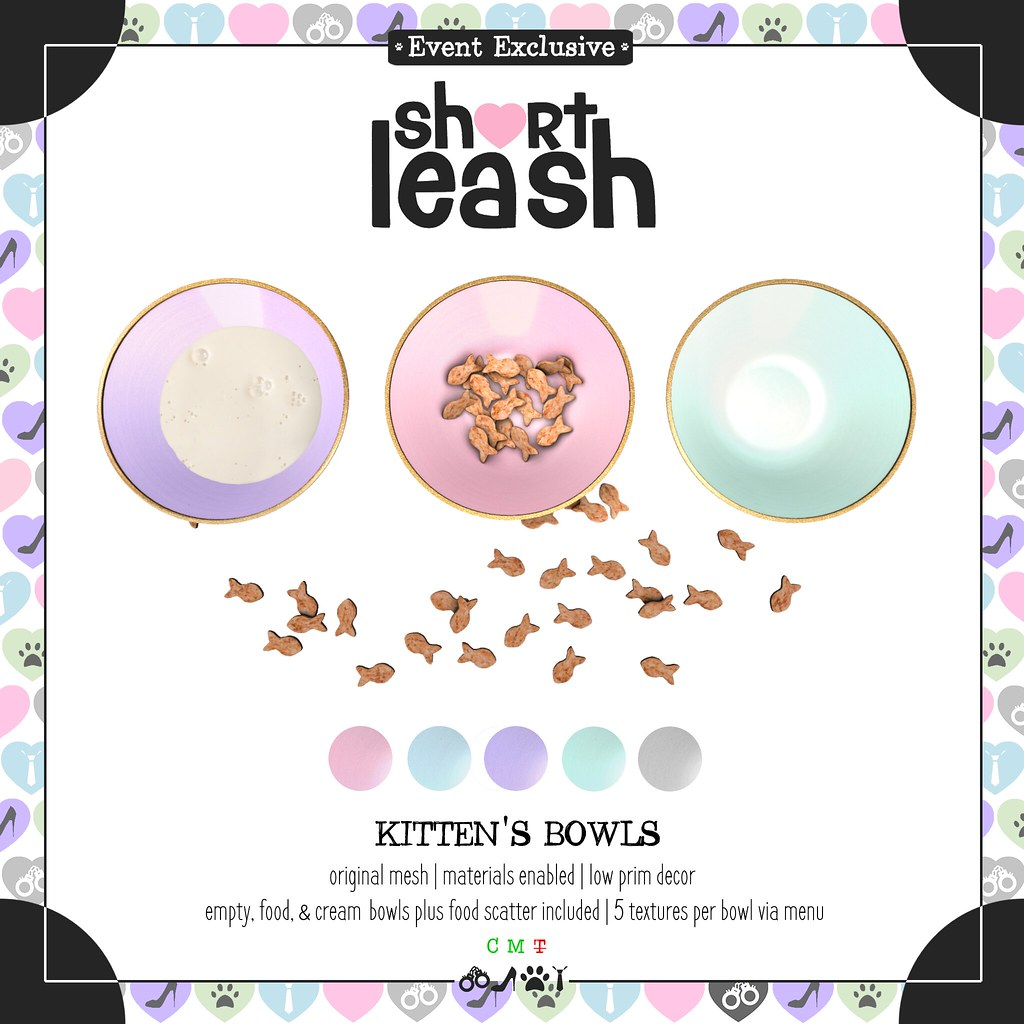 .:Short Leash:. Kitten's Bowls