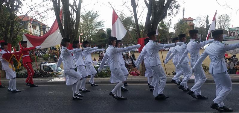Desfile de la Independencia en Ubud