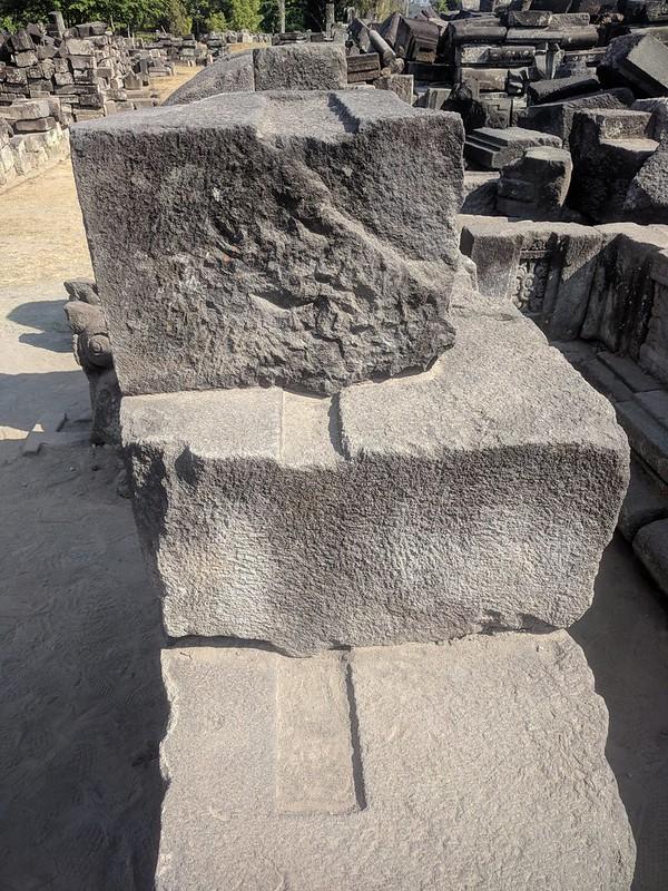 Piedras en los templos de Prambanan