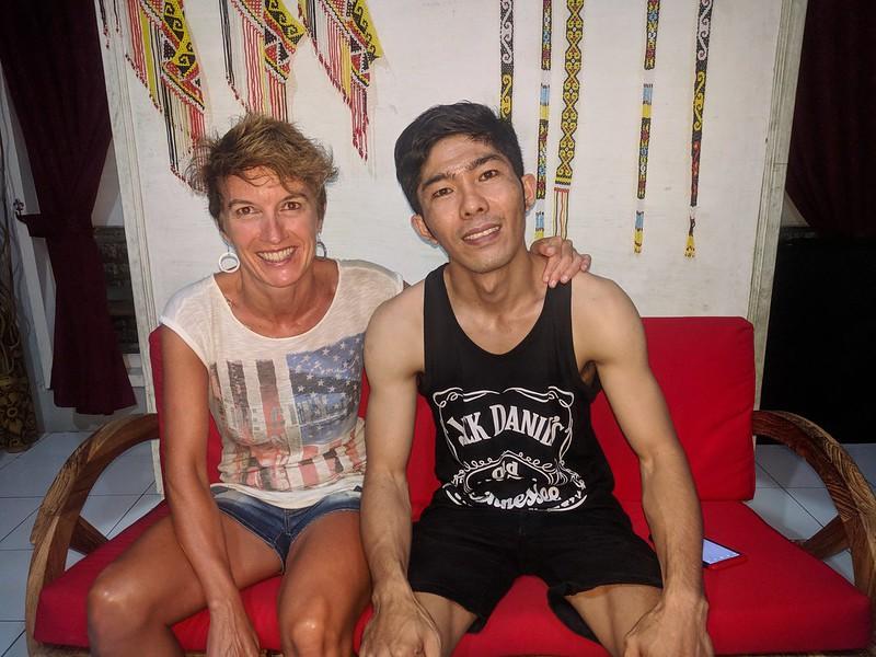 Koro con Esran el masajista de Ubud