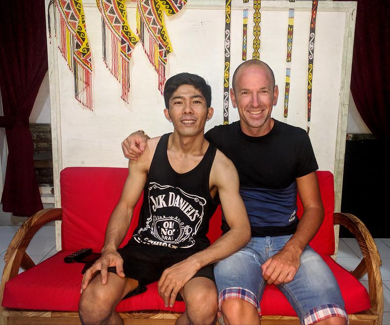 Iñaki con Esran el masajista de Ubud