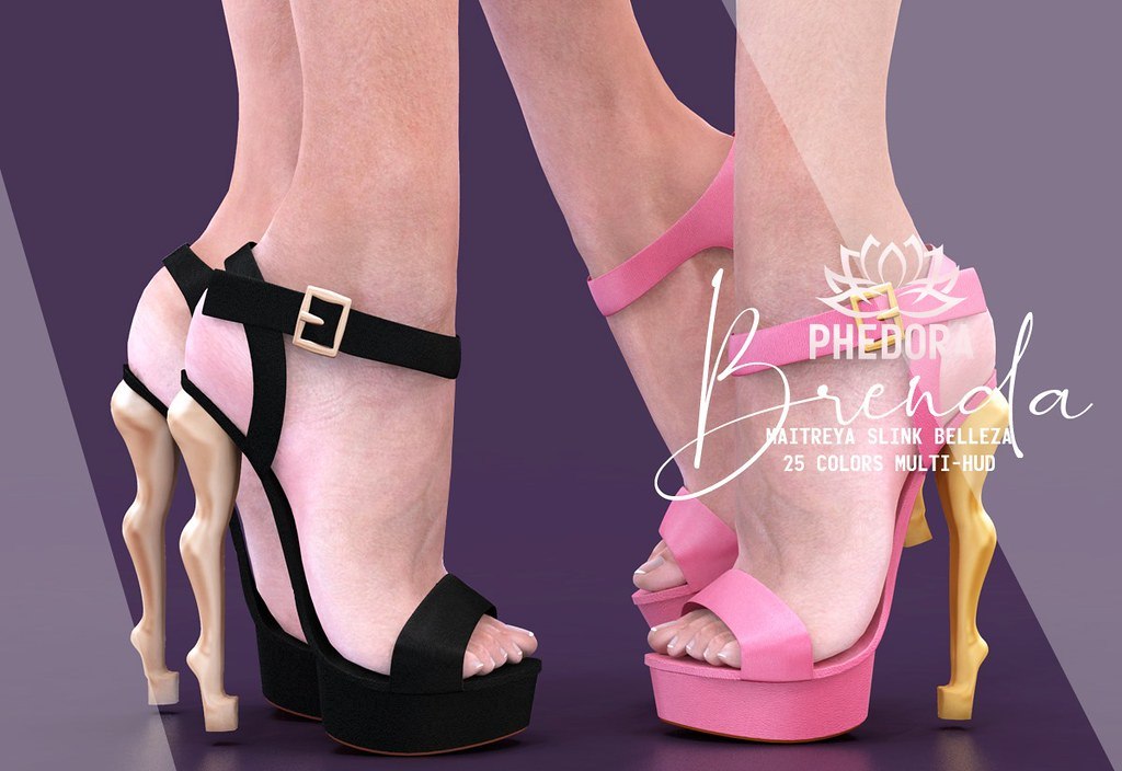 "Phedora for Kustom9 – ""Brenda"" heels ♥"