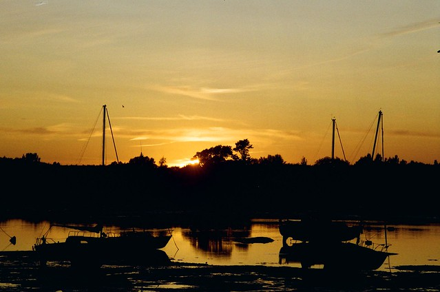 Sunset at Dell Quay, Chichester West Sussex
