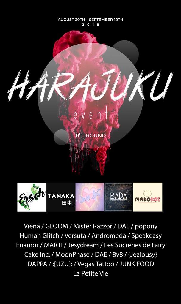 Harajuku 11th round FLYER - TeleportHub.com Live!