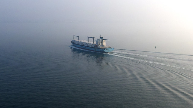 Through Solent Mist