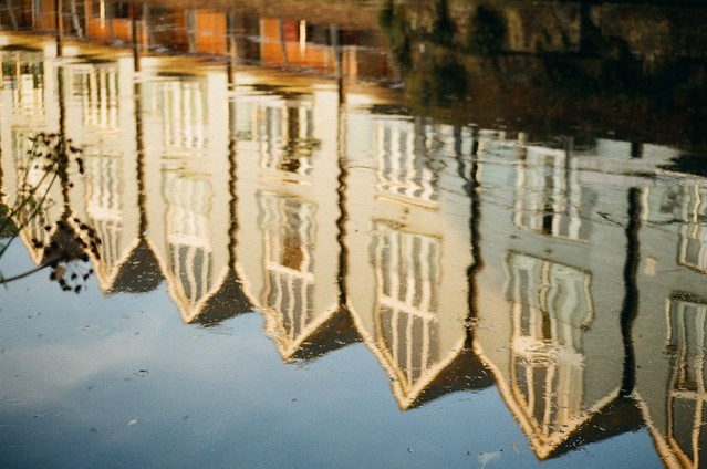 Reflections of Canal side houses