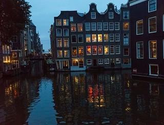 Night in Amsterdam.