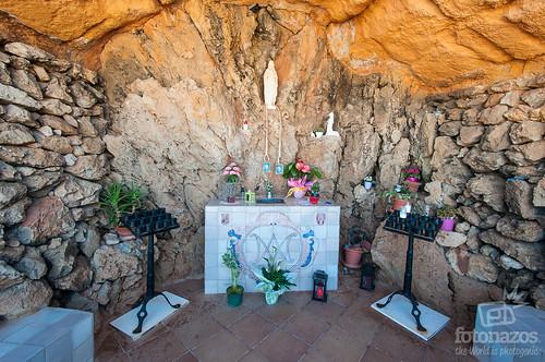 La ermita de Lourdes en Fornells, Menorca