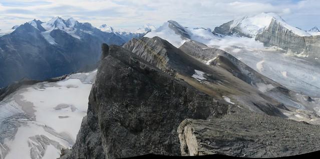 Barrhorn summit (3610 m), Swiss Alps