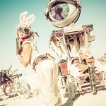 Masha at Burning Man