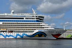 AIDA Bella at Stormont Wharf, August 2019