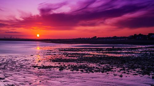 sunset solent goldenhour hillhead sky watet longexposure reflections