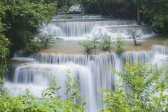 Waterfall in spring of Thailand.