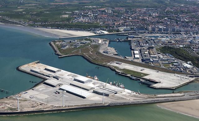 Boulogne-sur-Mer port in France - aerial image