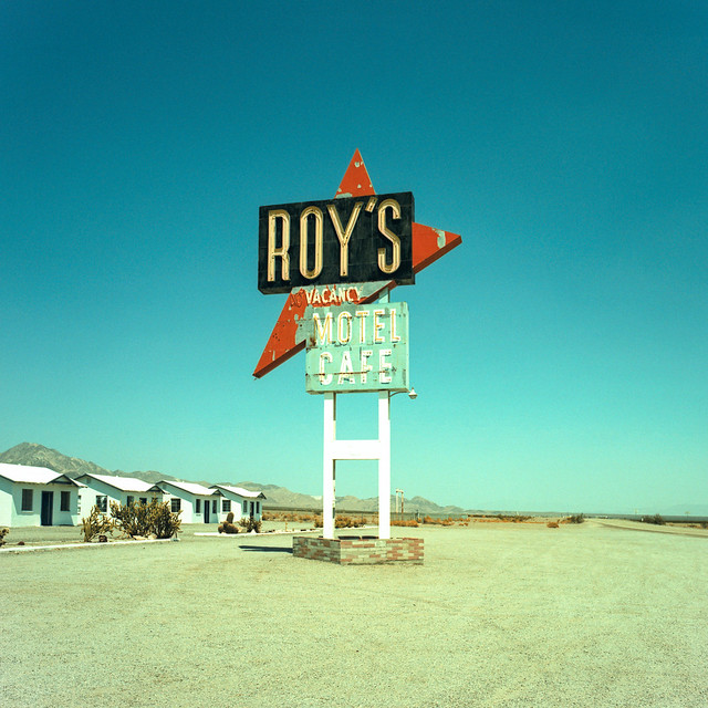 roys / route 66 (xpro). mojave desert, ca. 2018.