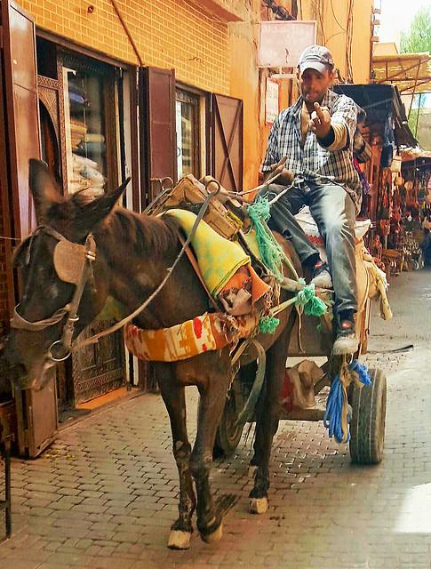 Not everyone appreciates Street Photography - The Medina, Marrakesh, Morocco