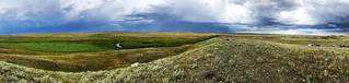 Grasslands National Park West Block - Pano with drama | by Pierre Yeremian