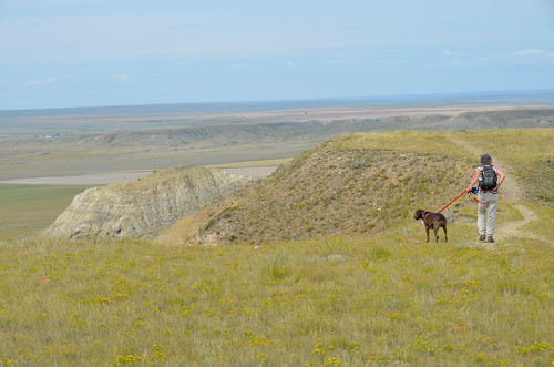 Grasslands National Park West Block - Linda on top of the Butte | by Pierre Yeremian