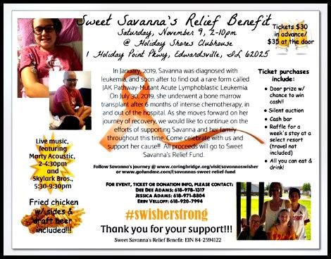 Sweet Savana's Relief Benefit 11-9-19