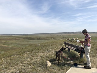 Grasslands National Park West Block - Hector and Linda at the bench | by Pierre Yeremian