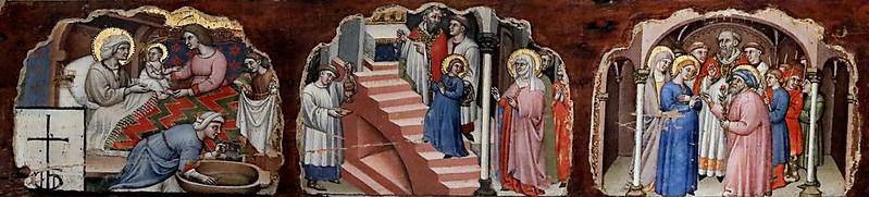 IMG_7436D Simone dei Crocifissi 1330-1399 Bologna Sette episodi della vita della Madonna  Seven episodes from the life of the Madonna  ca 1396-1398 Bologna Pinacoteca Nazionale