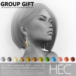 HEC (GROUP GIFT) • CAI Leaf Earrings GIFT
