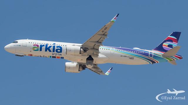 TLV - Arkia Aibus A321NeoLR 4X-AGN