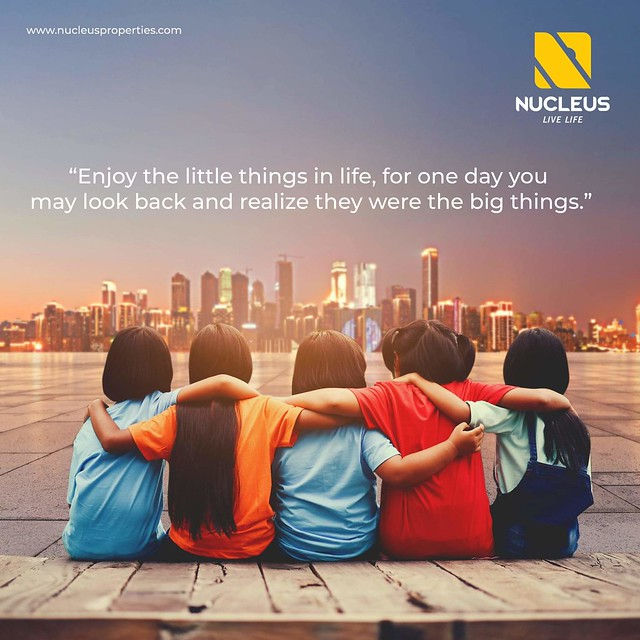 Enjoy the little things in life, for one day you may look back and realize they were the big things.  #LiveLife with Nucleus Premium Properties!  #livelifetothefullest #LuxuryApartment  #Kerala #India #LuxuryHomes #Architecture #Home #Elegance #Environmen