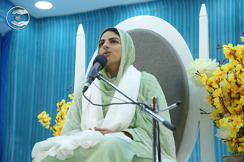 Her Holiness addressing the congregation