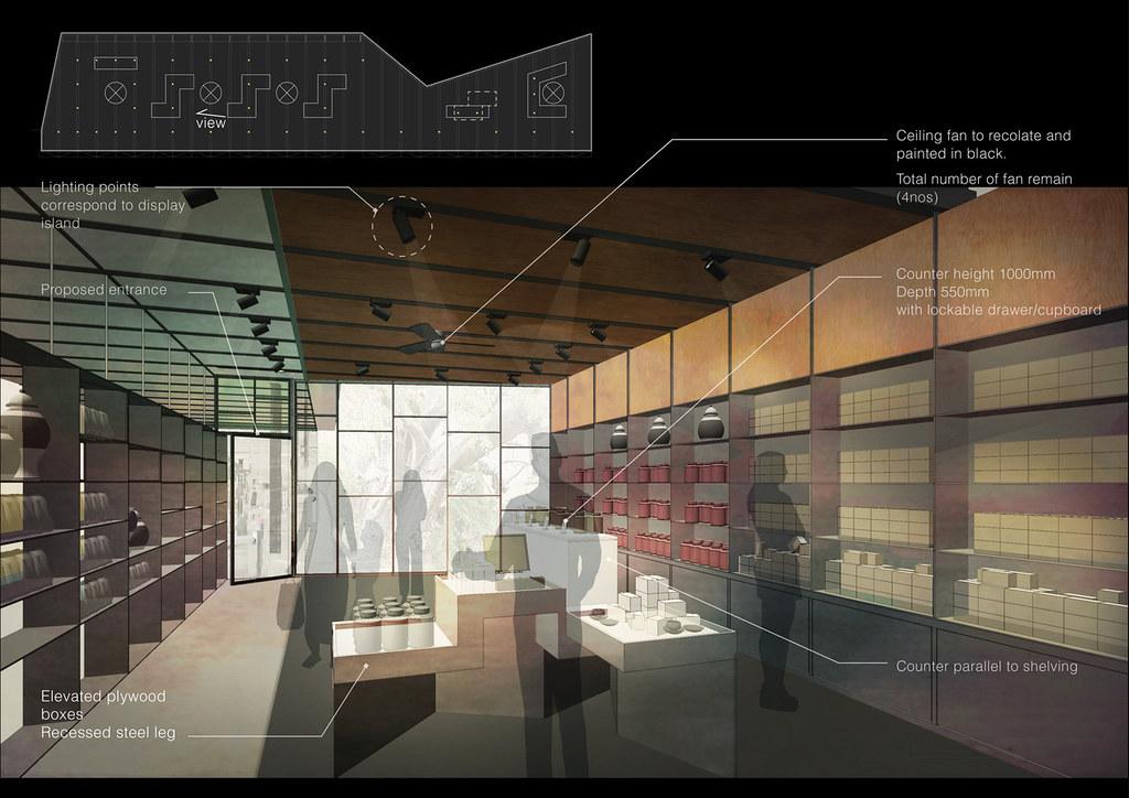 Photoshop rendering: retail refurbishment - lowhueying