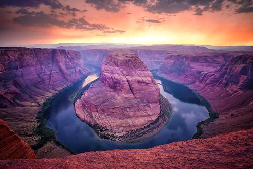 arizona coloradoriver horseshorebend sunset usa
